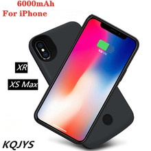 KQJYS 6000mAh Portable Battery Charging Case for iPhone XR High Quality External Power Bank for iPhone XS Max