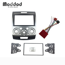 for Ford Everest Ranger Mazda BT-50 Double Din Fascia Stereo Panel With ISO Wiring Harness Trim Kit Face Frame