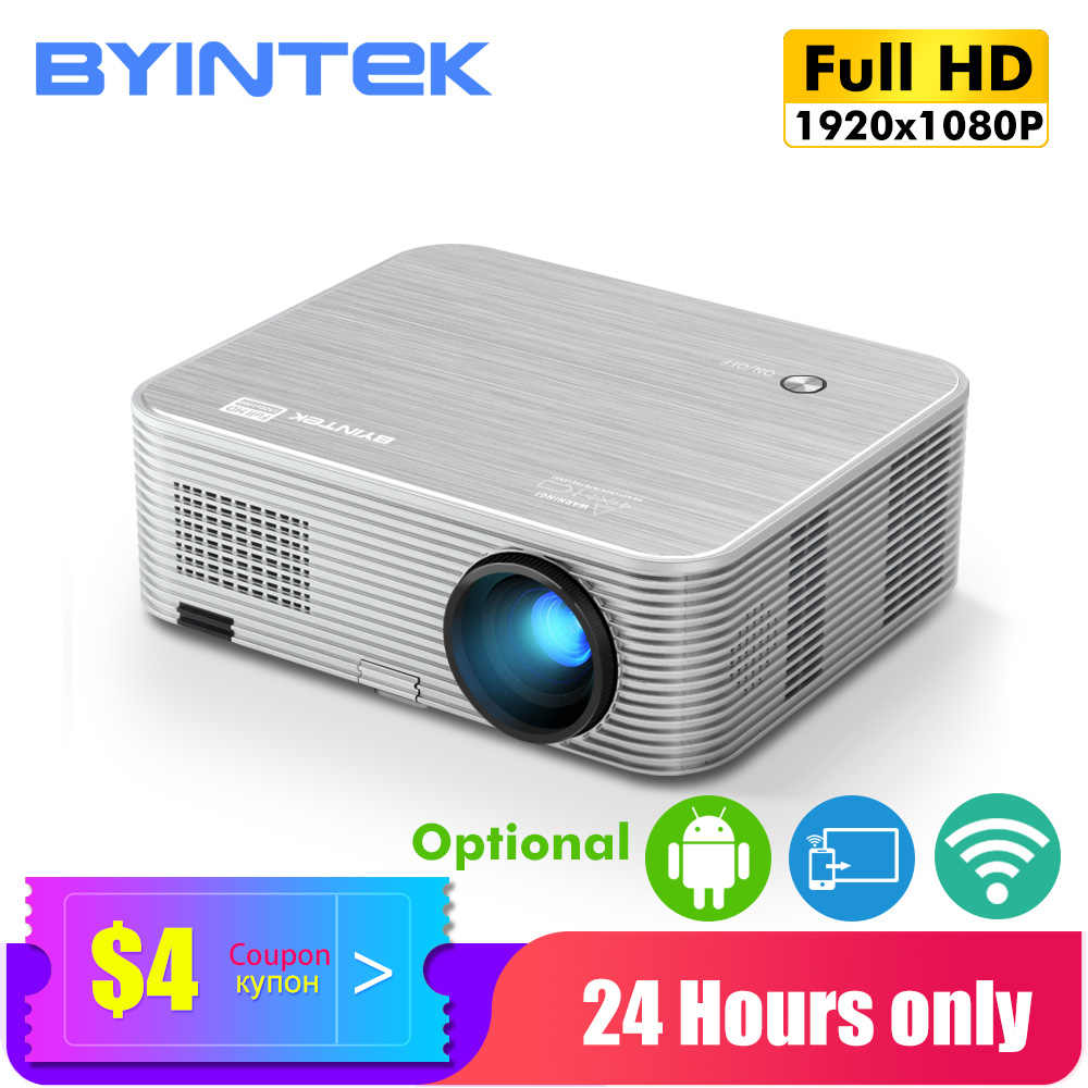 Byintek K15 Proyektor 4K 1920X1080P, Smart Android WIFI Projector, LED Video Beamer untuk 3D 4K 300 Inci Home Cinema, TERBARU 1080P