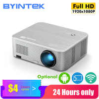 Proyector BYINTEK K15 4K,1920x1080P, Proyector Wifi inteligente Android, Proyector de vídeo LED para cine en casa 3D 4K 300 pulgadas, lo más nuevo 1080p