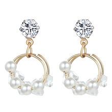 2019 Orecchini Aretes De Mujer Pendientes Sale Brinco Earings Geometric Simplicity Eardrop Female Fashion Circle Earrings