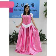 Halloween Sleeping Beauty Cosplay Anime Adult Birthday Princess Aurora Dress Carnival Costumes for Women(China)