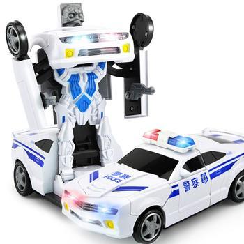 GloryStar Kids Lighting Music Transformer Robot Cars Modeling Early Educational Toy свитшот print bar music robot