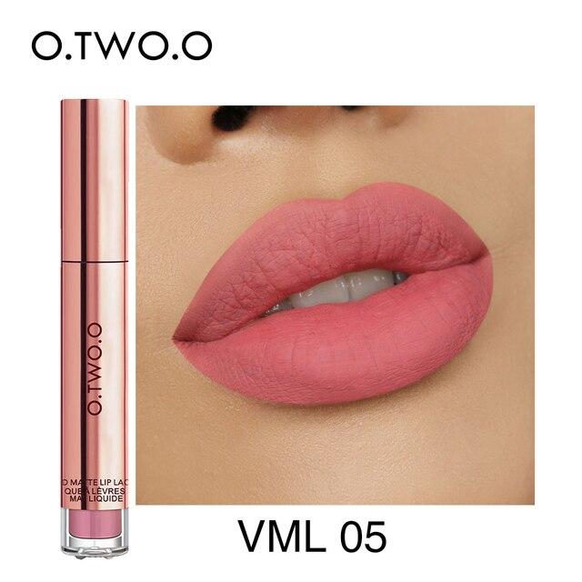 O.TWO.O Matte Lipstick Liquid Waterproof Long Lasting Velvet Lip Gloss Makeup Smooth Pigment Lip Tint Red Lips Cosmetics 3