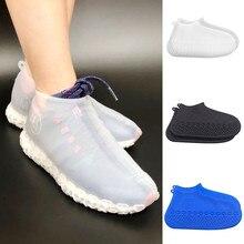 1 пара многоразовые латексные водонепроницаемые покрытие на обувь от дождя Нескользящие резиновые непромокаемые сапоги обувь аксессуары
