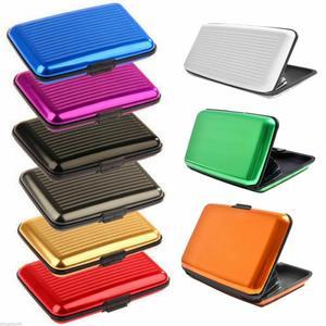 Waterproof Business ID Credit Card Wallet Holder Metal Pocket Case Box