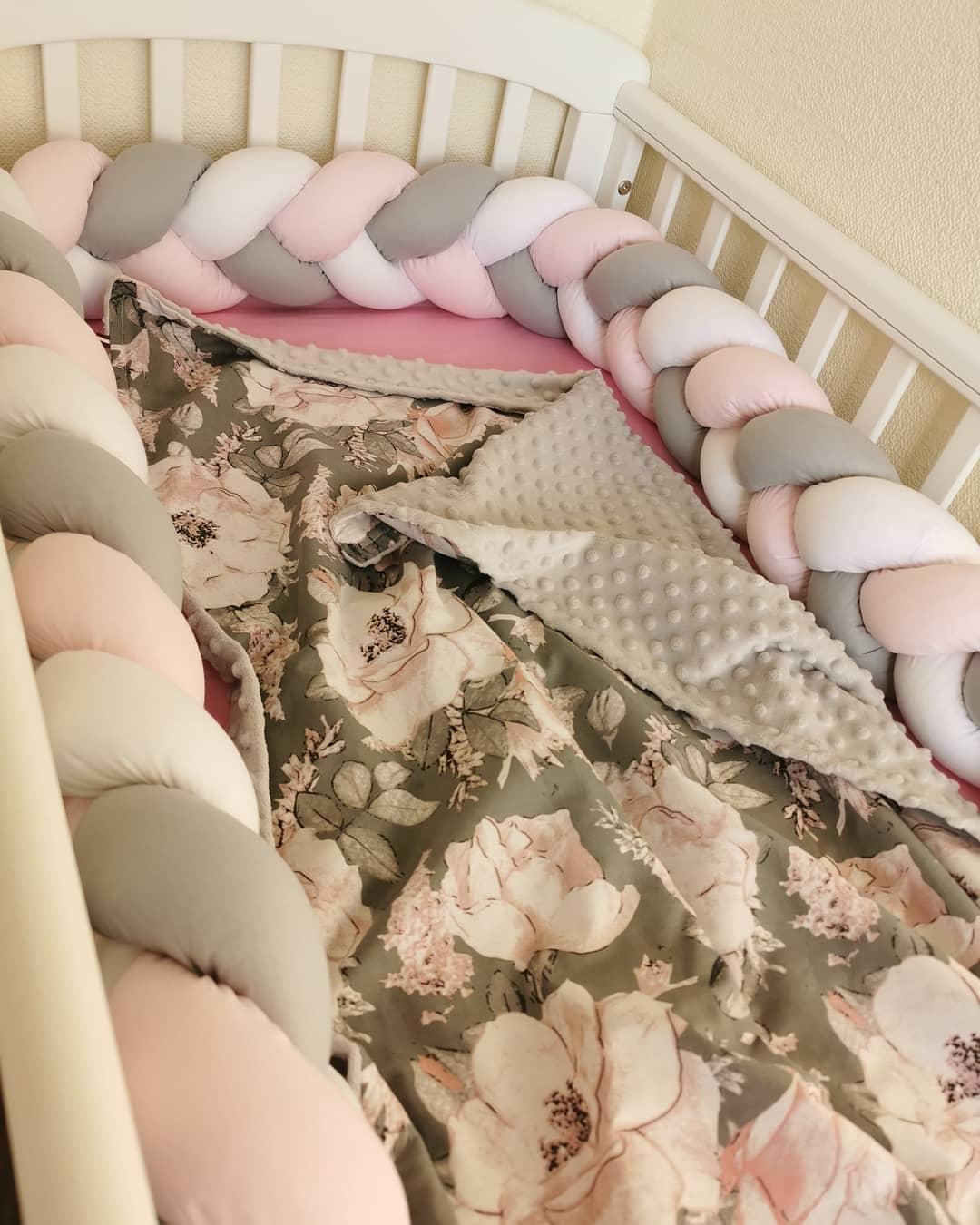 3M/2M/1M Newborn Baby Bed Bumper Protector Tour De Lit Bebe Tresse Crib Bumper Pillow Bed Bumper Baby Room Decor