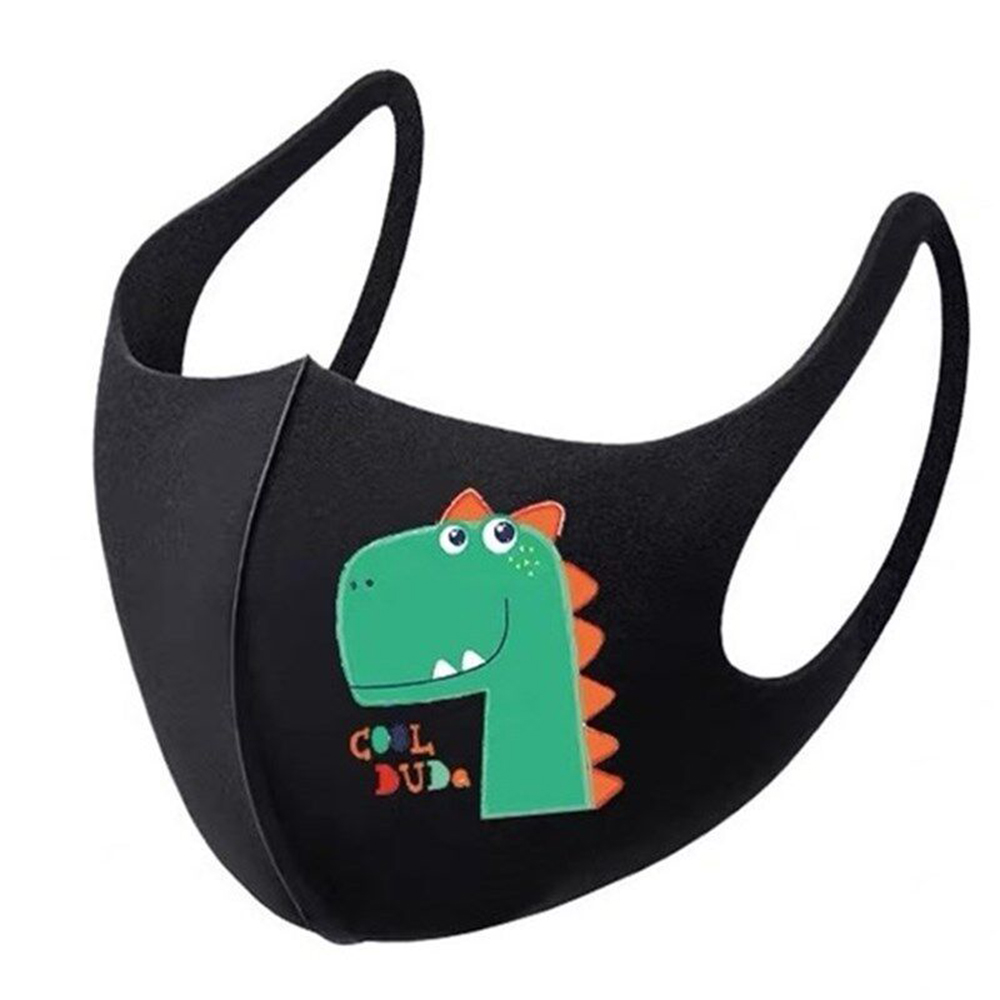 Children Dinosaur Printed Face Mask Dust-Proof And Anti Fog Mouth Mask For 4-12 Years Old Outdoor Protective Antibacteria Mask