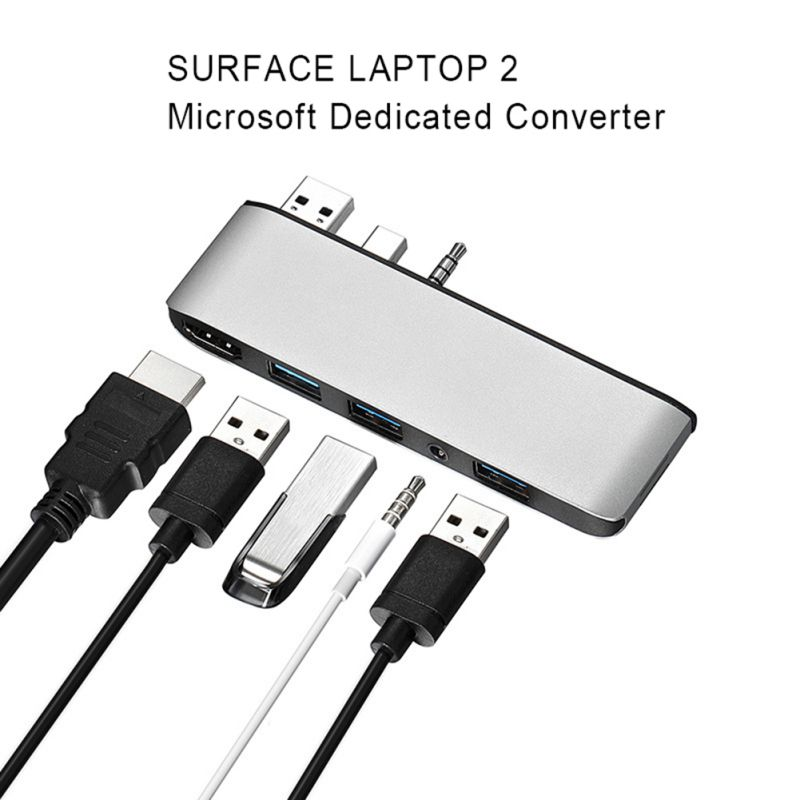 Suitable For Microsoft Surface Laptop2 Docking Station Notebook HDMI4K HD Projection Screen USB3.0 / TF / Audio Port - 4