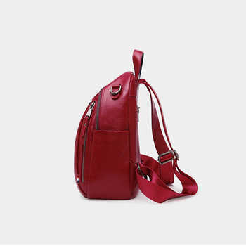 PASTE New Arrival Women Backpack 100% Genuine Leather Ladies Travel Bags Preppy Style Blue Schoolbag For Girls High Quality 2018