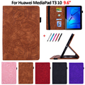 Для Huawei MediaPad T3 10 9,6 дюймов AGS-W09/L09/L03 чехол цветок 3D Тиснение PU кожаный чехол для Huawei Mediapad T3 10