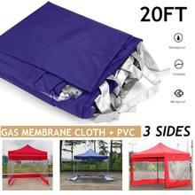 20FT namiot baldachim 3 strony ściany Gazebos cień odkryty Camping schronienie pasek wodoodporny wiatroszczelny ogród Patio baldachim Sun Shelter tanie tanio CN (pochodzenie) Nie powlekany Gas Membrane Cloth+PVC SKUG21773 NONE