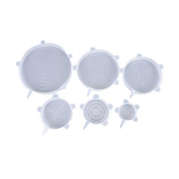 1pc wielokrotnego użytku Food Save Cover zachowywanie świeżości pokrywka silikonowa odporna na ciepło pasuje do wszystkich rozmiarów i kształtów pojemnika tanie i dobre opinie BIGHSM CN (pochodzenie) E0022