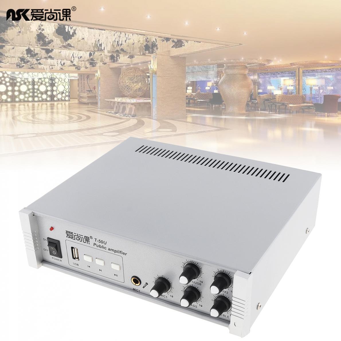 Amplificateur de pression constante de musique de fond de diffusion de 50W avec la fonction de lecture d'usb pour le système de musique de fond