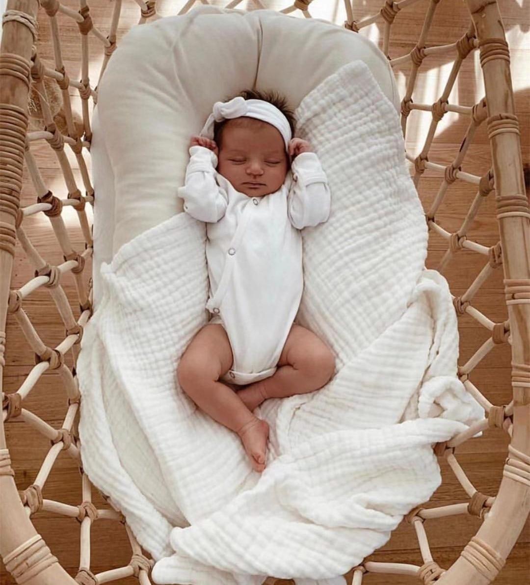 75*45cm Baby Nest Bed Portable Crib Travel Bed Baby Lounger Docatot Cosleeper Nursery Decor