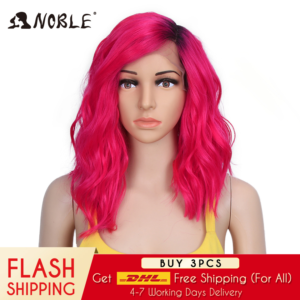 Noble Synthetic Lace Front Wig  Curly Hair 14 Inch  Blonde Ombre Wig Cosplay Wigs For Black Women Synthetic Wig Lace Front Wig