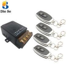 Interruptor de Control remoto Universal, 433MHz, CA 110V 220V 30A 1CH, receptor de relé rf y transmisor para electrodomésticos eléctricos de encendido y apagado