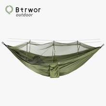 Btrwor Mosquito net Hammock Anti-mosquito Lightweight nylon portable Outdoor Camping Single Double Travel Sleeping Bed