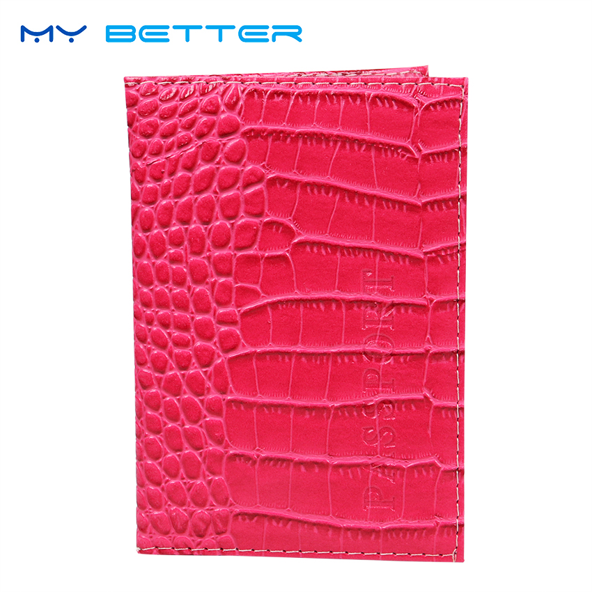 Passport Holder Protector Business Unisex Card Holder Travel Passport Cover PU Leather Alligator Embossing Bag