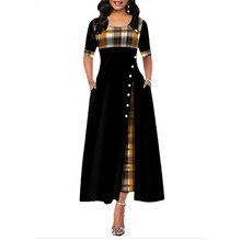 Autumn Short Sleeve Fashion OL Plaid Dress 2020 Fashion Ladi