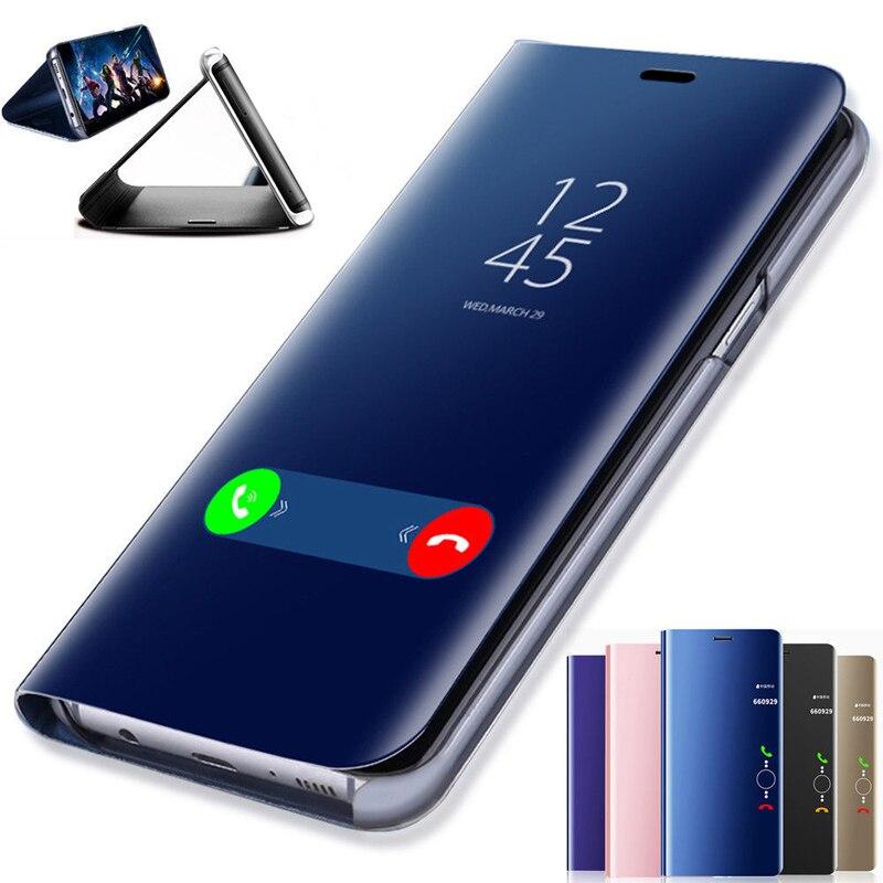 Smart Mirror Flip Case For Samsung Galaxy S8 S9 S10 S20 Plus S10e S7 S6 Edge Note 10 9 8 A20 A30 A40 A50 A51 A70 A71 A10 Cover(China)