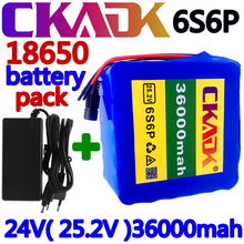 Lithium-Battery Motor E-Bike 36000mah 24v 36ah 6S6P Charger Bicycle Li-Ion for 350w 250w