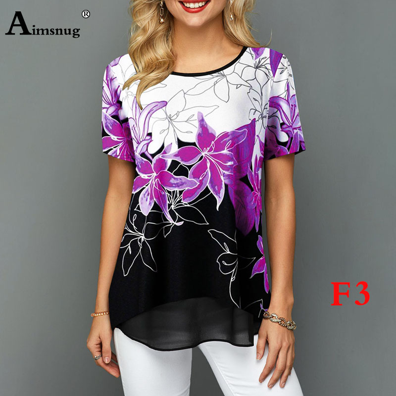 H0e46542cafe940bd9e1c464d6e9a23e84 - Plus size 4xl 5xl Women Fashion Print Tops Round Neck Short Sleeve Boho Tee shirts New Summer Female Casual Loose T-shirt