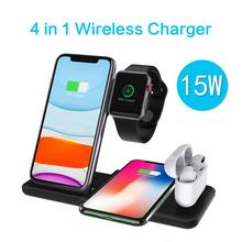 4 In 1 QI Fast Wireless Charger Dock For iPhone 11 For Apple