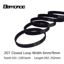 2GT 6mm PU with Steel Core Rubber fiberglass timing belt GT2 Belt Black Color 2GT open timing Belt 6mm Width 6M for 3d printer