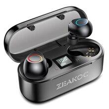 Amorno Drahtlose Kopfhörer TWS Bluetooth Ohrhörer Stereo Ture Wireless Ohrhörer HIFI Sound Freisprecheinrichtung Sport Gaming Headset für Telefon
