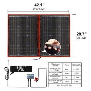 Image 2 - 100w 12V גמיש Foldble פנל סולארי חיצוני פנלים סולאריים סטי לקמפינג/סירות/RVHome/שמש סלולרי 18V שמש תשלום פנל