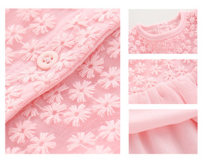 Image 5 - New Born Baby Girl Clothes Sets Formal  Lace Baptism Dress Baby Girl for Party Wedding 0 3 6 Months Infant Christening Dress
