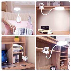 Image 5 - YAGEโคมไฟตั้งโต๊ะLEDแบบพกพาTouchบน/ปิดตาป้องกันตารางคลิป3โหมดDimmable USBชาร์จโต๊ะไฟ