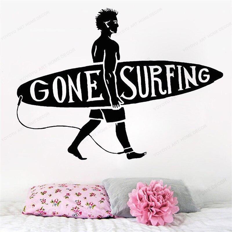 Sport Wall Decal  Surf Beach Vinyl wall sticker cone surfing decor  Home Bedroom Decoration Surfer art mural HJ796
