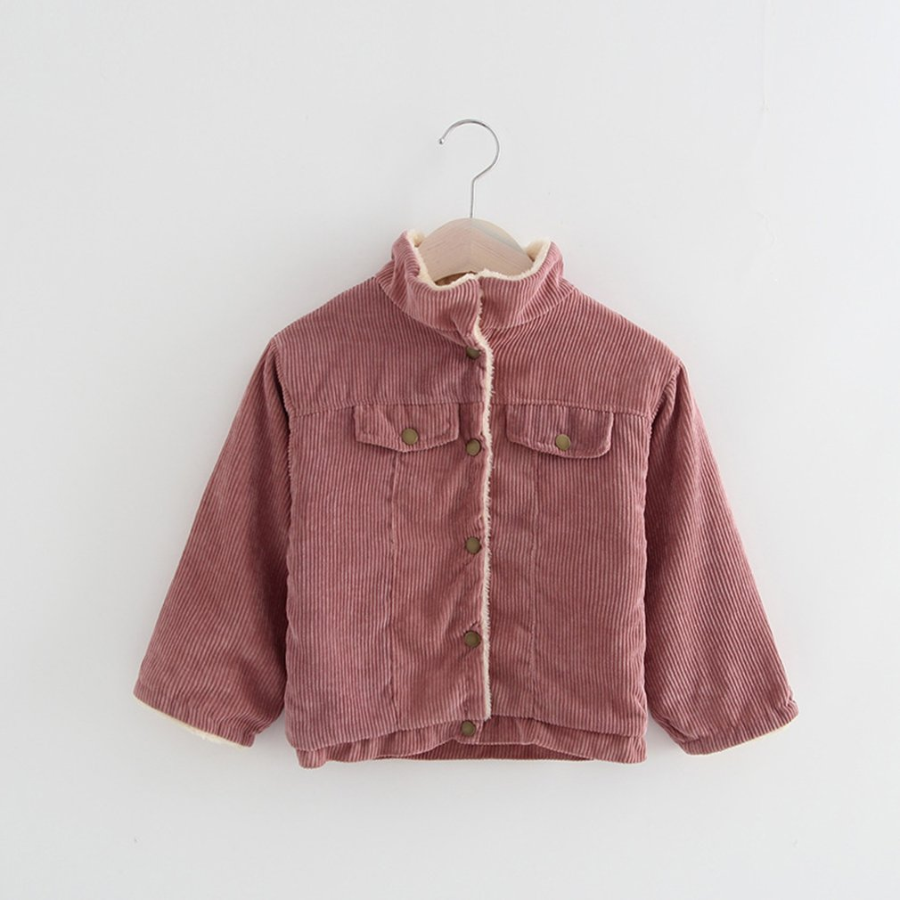 Fashion Children Girl Jacket Coat Button Closure Outerwear Casual Warm Fleece Corduroy Jacket Coat For Autumn Winter|Jackets & Coats| |  - title=