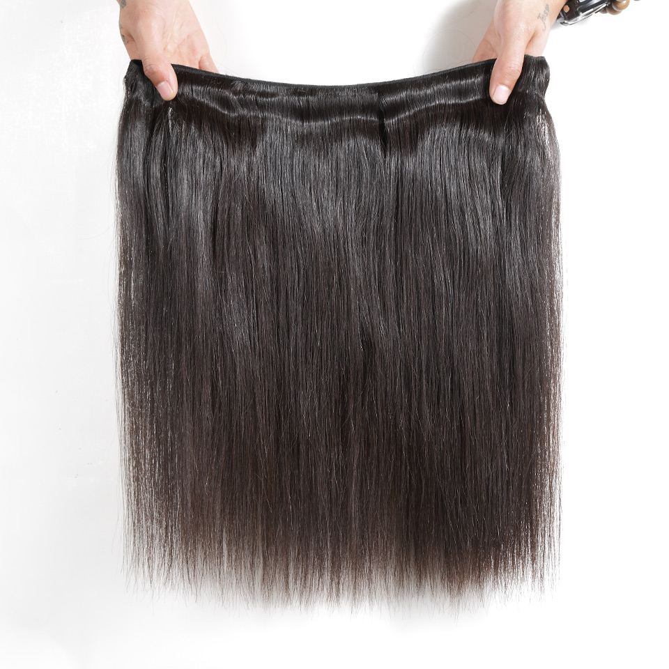 30 32 34 36 inch Indian Hair Straight Hair  Bundles 100% Natural  1 3 4 Bundles Double Wefts Thick  Hair 5