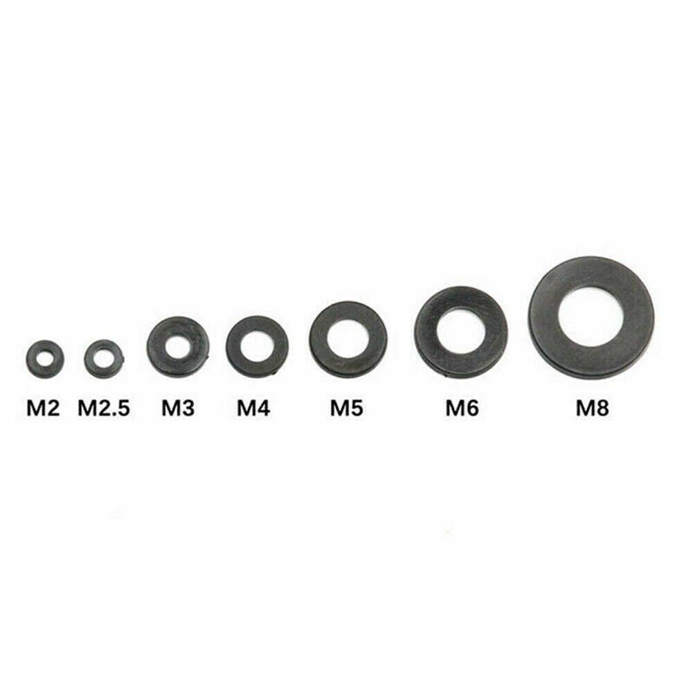 364 Stks/set Zwart Nylon Rubber Platte Ring Reparatie Wasmachine Pakking Voor Metrische M2-M8