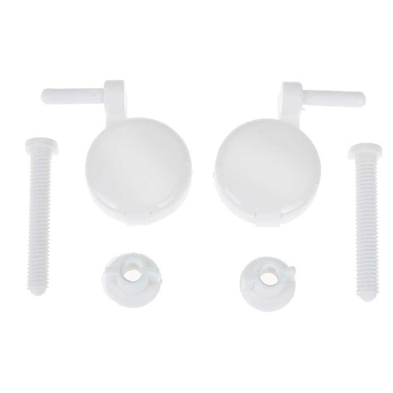 1 Juego de pernos de bisagra de asiento de inodoro tornillo Kit de ajuste accesorios de asiento de inodoro