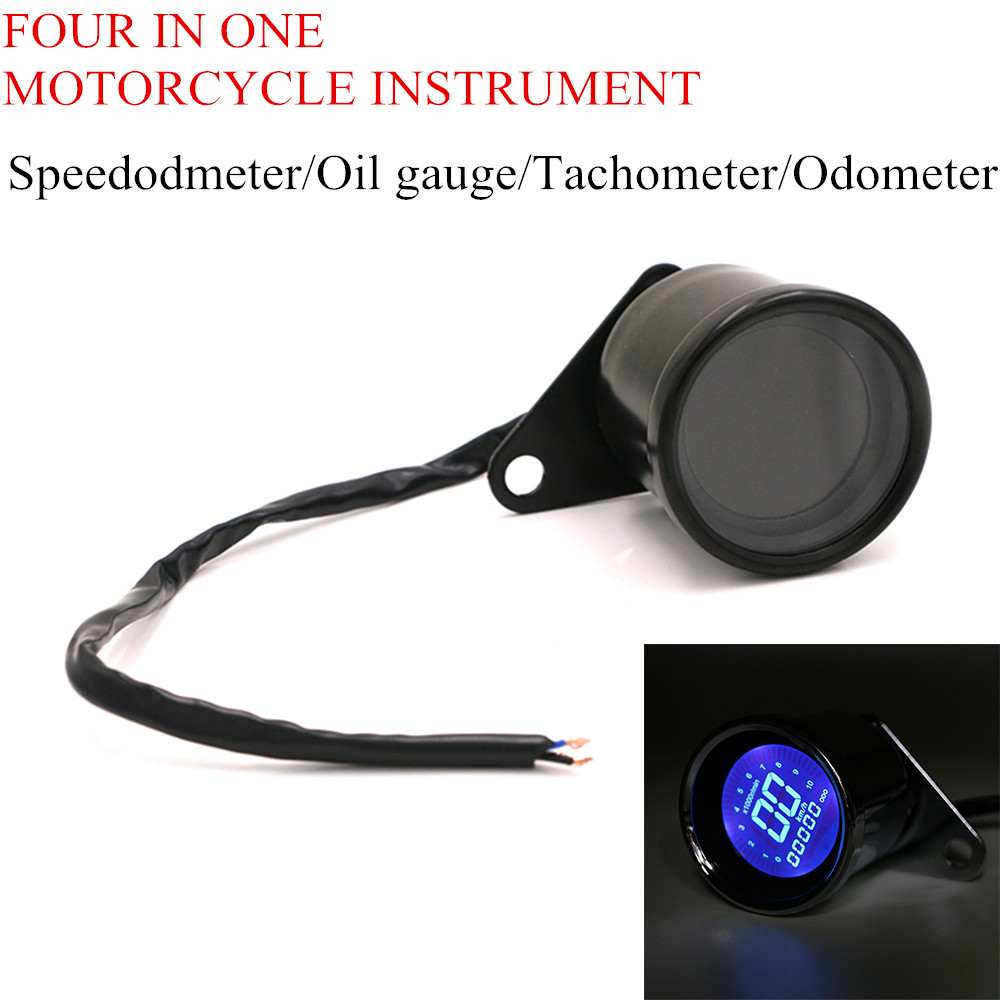 ATV LCD Universal Digital Odometer Adjustment Tachometer Speedometer For Motorcycle Fuel Gauge Fuel Meter 4 in 1 For kawasaki image