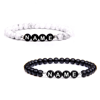 Custom Beads Bracelets with Your Name for Couple Friendship  Personalized Bracelet
