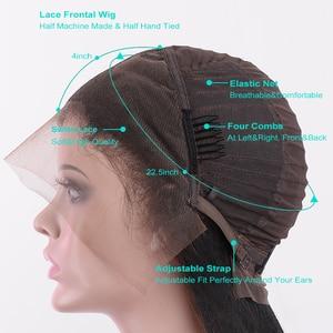 Image 5 - Silkswan Brasilianische Gerade Haar 13*4 Spitze Front perücken 1b/27 menschenhaar perücken für frauen Remy Haar 150% dichte Kurze Haare Perücke