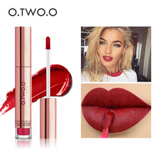 O.TWO.O Liquid Lipstick Waterproof Long Lasting Matte Velvet Lip Gloss Makeup Smooth Lip Tint Pigment Red Lips Cosmetics(China)