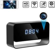 1080P Mini kamera zegar bezprzewodowe zegary kamery HD WiFi ukryty nadzór kamera bezpieczeństwa Night Vision 12/24 godzinny alarm wykrywania