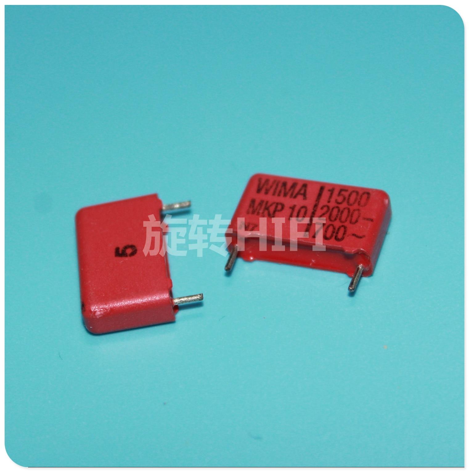 10PCS RED WIMA MKP10 1500PF 2000V P15mm Original New MKP-10 152/2000V Audio 1.5nf Film 152 PCM15 Hot Sale 1500pf 2kv 0.0015UF