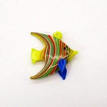 Floating Glass Fish Ornament Silver foil design miniature sea animal figurine Aquarium decor Accessories Pendant Upscale statue