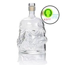Прохладный звездные войны Штурмовик шлем виски графин Кристалл стекло бутылка-декантер волшебный аэратор для вина стекло es аксессуары