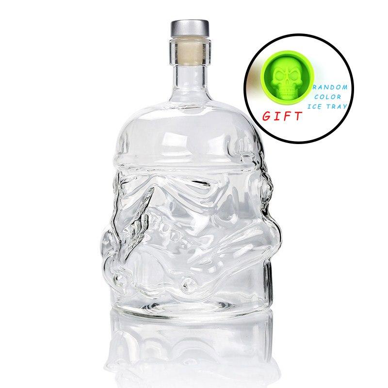 Kühle Sterne Wars Storm trooper Helm Whiskey Decanter Kristall Glas Wein Decanter Flasche Magie Belüfter Wein Gläser Zubehör