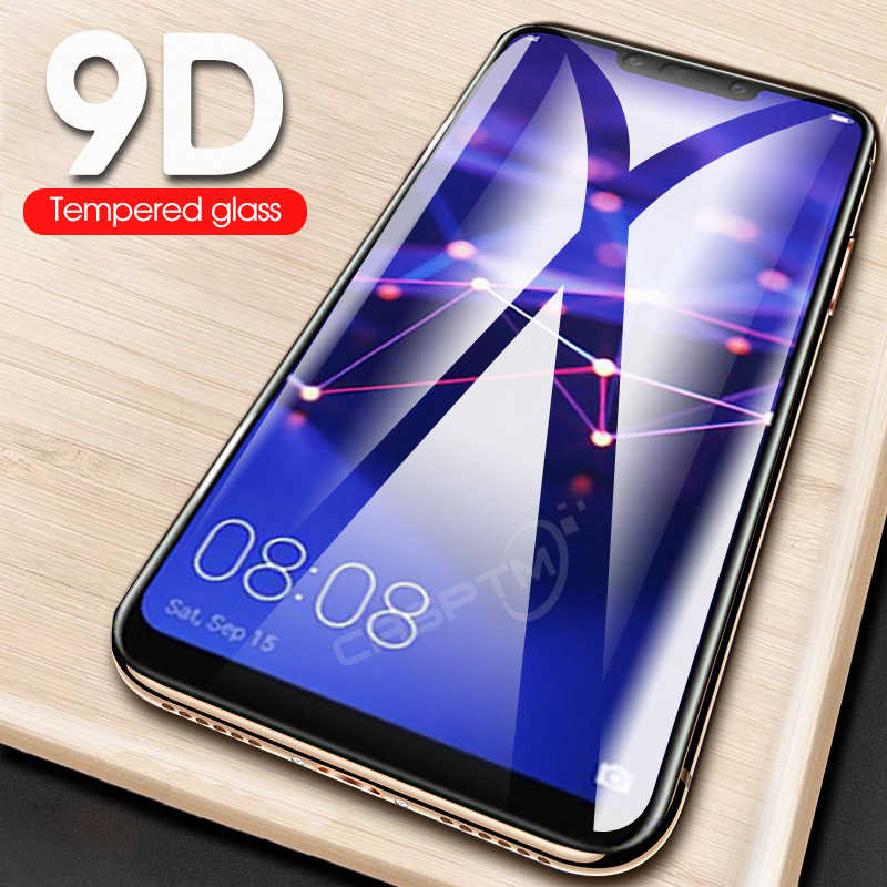 On For Huawei Mate 20 30 Lite 20 Protective Tempered Glass For Huawei Honor 9 10 Lite 9D Full Cover Screen Protector Hard Film