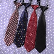 Полосатый однотонный шелковый галстук с животными из мультфильмов для мальчиков-школьников, Детские эластичные аксессуары для свадебной вечеринки, модный галстук