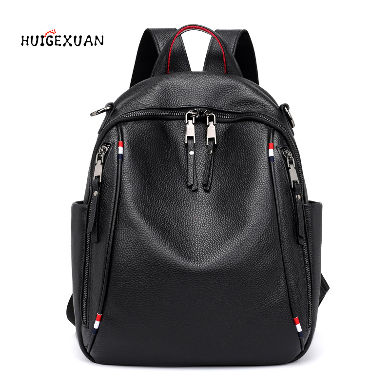 New Women Backpack Leather Fashion Causal Bags High Quality  Female Shoulder Bag School Bags Famous Designer Backpacks For Girls